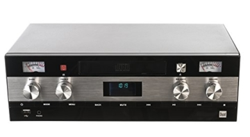 Dual DAB-MS 130 CD Stereoanlage (DAB(+)-/UKW-Tuner, CD-Player, Musikstreaming via Bluetooth, USB-Anschluss, AUX-IN-Anschluss, Fernbedienung) Schwarz - 2