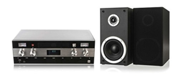 Dual DAB-MS 130 CD Stereoanlage (DAB(+)-/UKW-Tuner, CD-Player, Musikstreaming via Bluetooth, USB-Anschluss, AUX-IN-Anschluss, Fernbedienung) Schwarz - 3