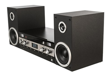 Dual DAB-MS 130 CD Stereoanlage (DAB(+)-/UKW-Tuner, CD-Player, Musikstreaming via Bluetooth, USB-Anschluss, AUX-IN-Anschluss, Fernbedienung) Schwarz - 4