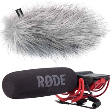 Rode Videomic Rycote Richtmikrofon + keepdrum WS-WH Fell-Windschutz - 1