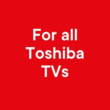 One For All Toshiba TV Fernbedienung - Funktioniert mit ALLEN Toshiba TV / Smart TV - die ideale TV-Ersatzfernbedienung - URC1919 - 2