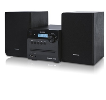 SHARP XL-B515D (BK) Micro Sound System, Digital Radio mit UKW, DAB/ DAB+, Bluetooth und USB Playback, CD-MP3, 40 Watt, Schwarz - 1