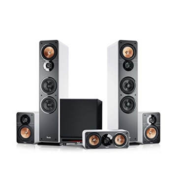 Teufel Ultima 40 Surround Power Edition 5.1-Set Weiß Heimkino Lautsprecher 5.1 Soundanlage Kino Raumklang Surround Subwoofer Movie High-End HiFi - 1