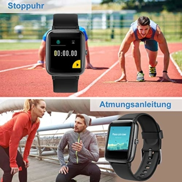 Willful Smartwatch,1.3 Zoll Touch-Farbdisplay Fitness Armbanduhr mit Pulsuhr Fitness Tracker IP68 Wasserdicht Sportuhr Smart Watch mit Schrittzähler,Schlafmonitor,Stoppuhr für Damen Herren - 4