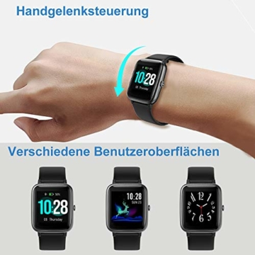 Willful Smartwatch,1.3 Zoll Touch-Farbdisplay Fitness Armbanduhr mit Pulsuhr Fitness Tracker IP68 Wasserdicht Sportuhr Smart Watch mit Schrittzähler,Schlafmonitor,Stoppuhr für Damen Herren - 7