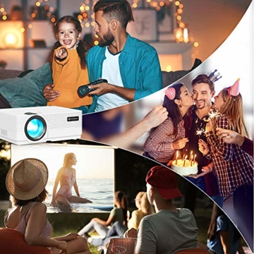 WiFi Beamer 4500 Lux, VANKYO Leisure 470 Wireless Beamer, Support 1080P Full HD Heimkino Beamer WLAN, kompatibel mit TV Stick, HDMI, SD, AV, VGA, USB, PS4, X-Box, iOS/Android Smartphone Projektor - 3